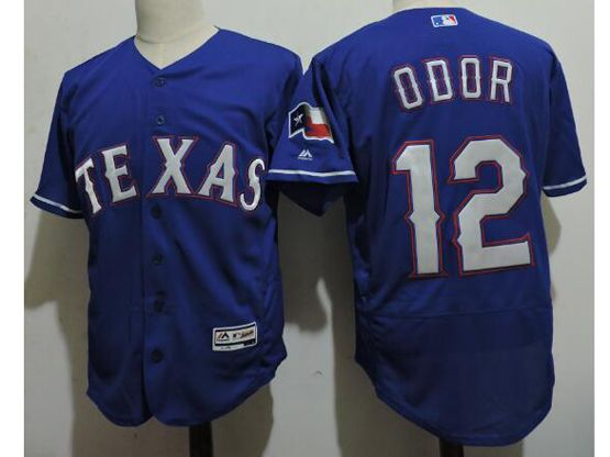 mens majestic texas rangers #12 rougned odor blue Flex Base jersey