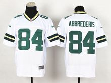 Mens Nfl Green Bay Packers #84 Jared Abbrederis White Elite Jersey