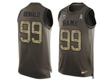 mens nfl st. louis rams #99 aaron donald Green salute to service limited tank top jersey