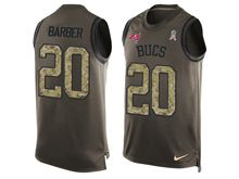 mens nfl tampa bay buccaneers #20 ronde barber Green salute to service limited tank top jersey