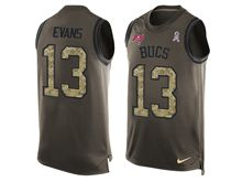 mens nfl tampa bay buccaneers #13 mike evans Green salute to service limited tank top jersey