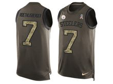 mens nfl pittsburgh steelers #7 ben roethlisberger Green salute to service limited tank top jersey