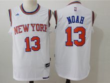 Mens Nba New York Knicks #13 Joakim Noah White Jersey