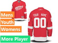 Mens Women Youth Reebok Detroit Red Wings Red Current Player Jersey