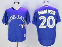 Mens Mlb Toronto Blue Jays #20 Josh Donaldson Blue Cool Base Jersey