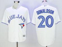 Mens Mlb Toronto Blue Jays #20 Josh Donaldson White Cool Base Jersey