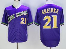 Mens Mlb Arizona Diamondbacks #21 Zack Greinke Purple Throwbacks Jersey