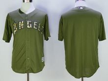 Mens Mlb Los Angeles Angels Black Green Fashion 2016 Memorial Day Jersey