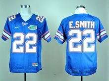 Mens Ncaa Nfl Florida Gators #22 E.smith Blue Jersey