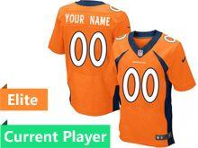 Mens Denver Broncos Orange Elite Current Player Jersey