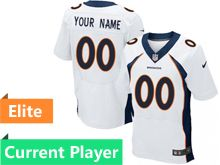 Mens Denver Broncos White Elite Current Player Jersey