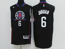 Mens Nba Los Angeles Clippers #6 Deandre Jordan Black 2016 New Jersey
