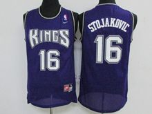 Mens Nba Sacramento Kings #16 Peja Stojaković Purple Throwback Jersey