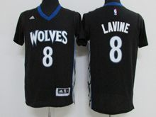 Mens Nba Minnesota Timberwolves #8 Zach Lavine Black Jersey