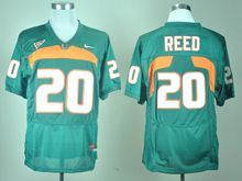 Mens Ncaa Nfl Miami Hurricanes #20 Ed Reed Green Jersey