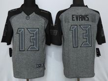 Mens   Tampa Bay Buccaneers #13 Mike Evans Black Gray Gridiron Limited Jersey