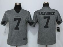 Women   San Francisco 49ers #7 Colin Kaepernick Gray Gridiron Limited Jersey