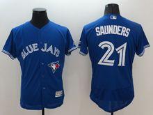 mens majestic toronto blue jays #21 michael saunders blue Flex Base jersey