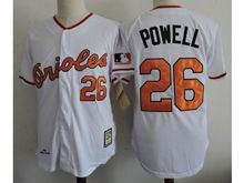 Mens Mlb Baltimore Orioles #26 Boog Powell White Throwback Jersey