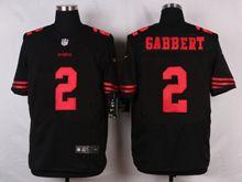 Mens Nfl San Francisco 49ers #2 Blaine Gabbert Black Elite Jersey