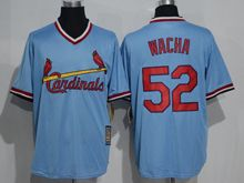 Mens Mlb St.louis Cardinals #52 Michael Wacha White Pullover Throwback Jersey