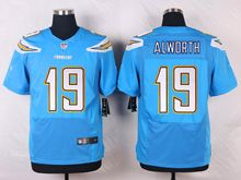 Mens Nfl San Diego Chargers #19 Lance Alworth Light Blue Elite Jersey