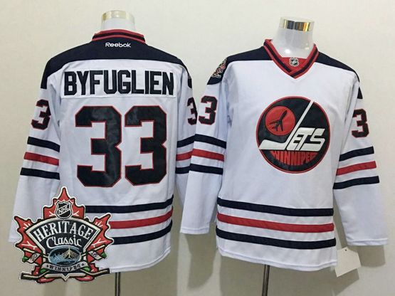 Mens Reebok Winnipeg Jets #33 Dustin Byfuglien White 2016 Winter Classic Jersey