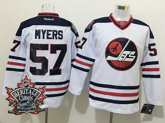 Mens Reebok Winnipeg Jets #57 Tyler Myers White 2016 Winter Classic Jersey