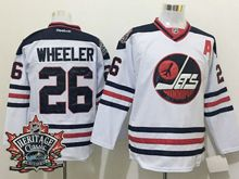 Mens Reebok Winnipeg Jets #26 Blake Wheeler White 2016 Winter Classic Jersey