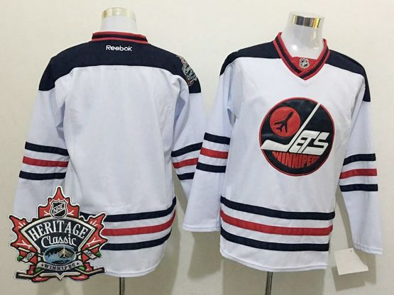 Mens Reebok Winnipeg Jets Blank White 2016 Winter Classic Jersey