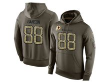 mens nfl washington redskins #88 pierre garcon green olive salute to service Hoodie