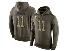 mens nfl washington redskins #11 desean jackson green olive salute to service Hoodie