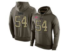 mens nfl tampa bay buccaneers #54 lavonte david green olive salute to service Hoodie