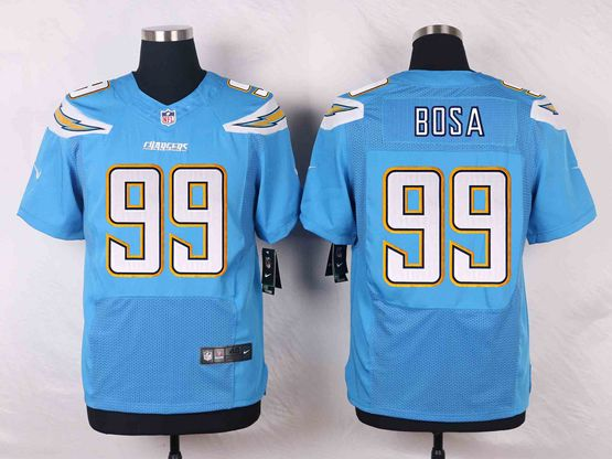 Mens Nfl San Diego Chargers #99 Joey Bosa Light Blue Elite Alternate Jersey