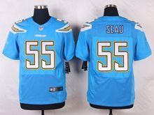 Mens Nfl   San Diego Chargers #55 Junior Seau Light Blue Elite Alternate Jersey