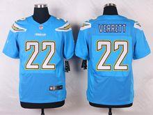 Mens Nfl   San Diego Chargers #22 Jason Verrett Light Blue Elite Alternate Jersey