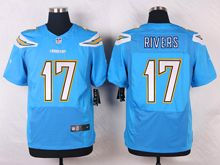 Mens Nfl   San Diego Chargers #17 Philip Rivers Light Blue Elite Alternate Jersey