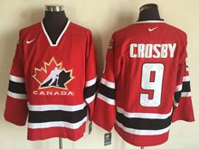 Mens Nhl Team Canada #9 Sidney Crosby Red (2002 Olympics) Throwback Jersey