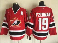 Mens Nhl Team Canada #19 Steve Yzerman Red (2002 Olympics) Throwback Jersey