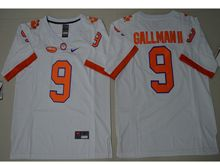 Mens Ncaa Nfl Clemson Tigers #9 Wayne Gallman Ii White Limited Jersey