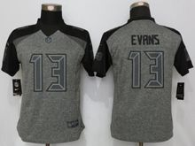 Women   Tampa Bay Buccaneers #13 Mike Evans Gray Stitched Gridiron Limited Jersey