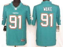 Mens   Miami Dolphins #91 Cameron Wake Green Limited Jersey