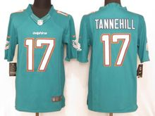 Mens   Miami Dolphins #17 Ryan Tannehill Green Limited Jersey