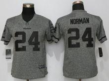 Women   Washington Redskins #24 Josh Norman Gray Stitched Gridiron Limited Jersey