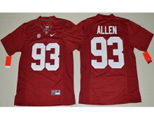 Mens Ncaa Nfl Alabama Crimson #93 Jonathan Allen Crimson Limited Jersey