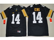Mens Ncaa Nfl Iowa Hawkeyes #14 Desmond King Black Jersey