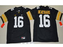 Mens Ncaa Nfl Iowa Hawkeyes #16 C.j Beathard Black Jersey