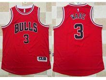 Mens Nba Chicago Bulls #3 Dwyane Wade Red Jersey