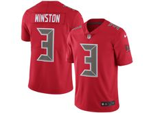 Mens Tampa Bay Buccaneers #3 Jameis Winston Red Vapor Untouchable Color Rush Limited Player Jersey