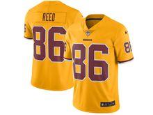 Mens   Washington Redskins #86 Jordan Reed Gold Color Rush Limited Jersey